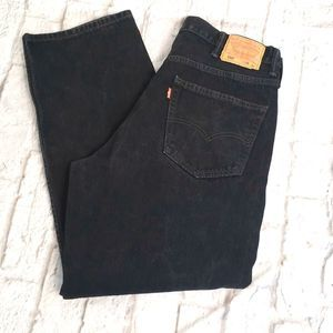 Levi's 550 Black Relaxed Fit Men's Jeans 38X32